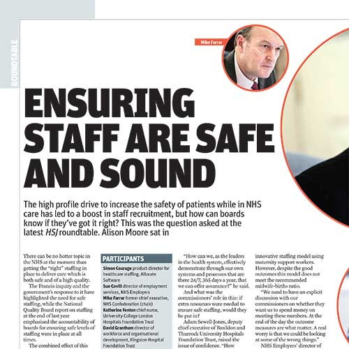 Ensuring staff are safe and sound