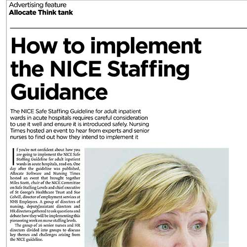 How to implement NICE guidelines
