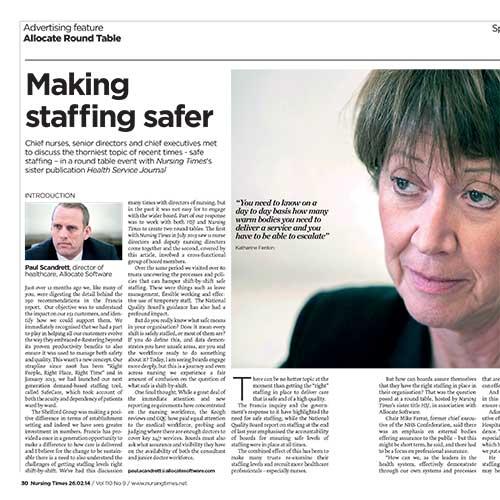 Making staffing safer